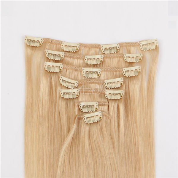 Good quality clip in human hair extensions  LJ021