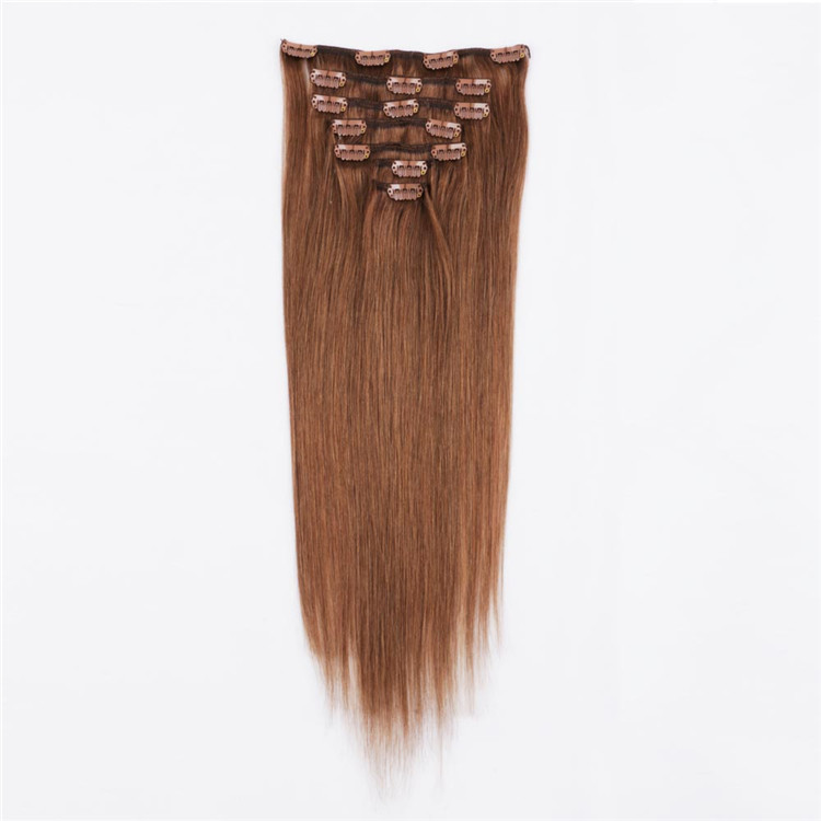 Wholesale double drawn clip in hair manufacturer QM113