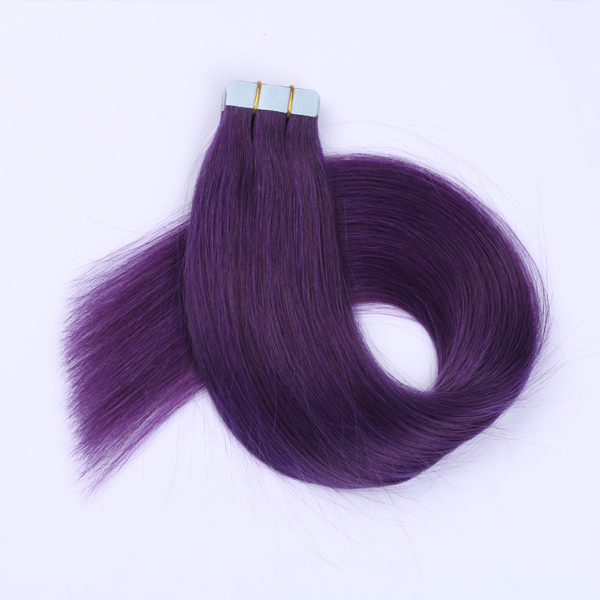 Beautiful Purple Color Hair Wefting Tape JF064