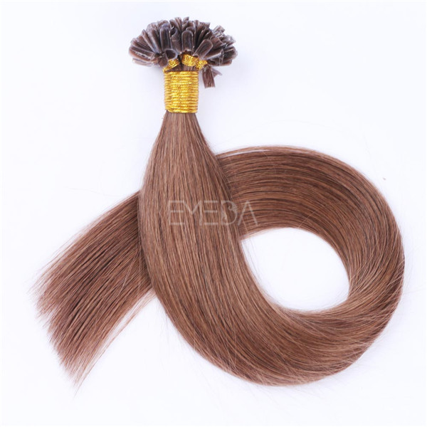 Nail Tip Hair Extensions For White Women LJ123