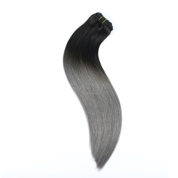 Real human hair clip in extensions LJ002