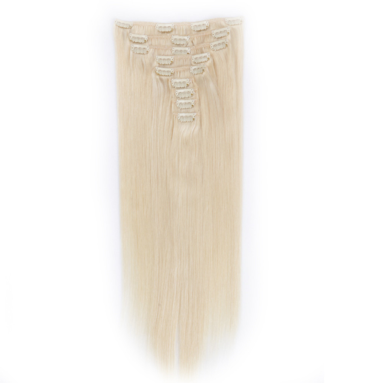 Clips in hair extension factory clip-in hair extensions wholesale factory straight human hair MJ001