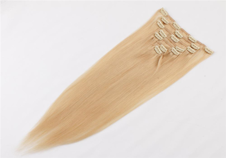 China double drawn clip in human hair extension suppliers QM035