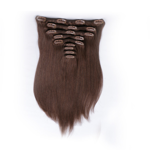 100% remy human hair clip in extensions thick double drawn YJ005