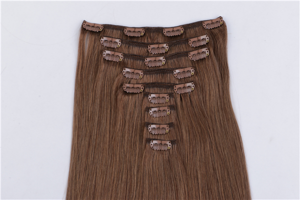 Remy 100 human hair clip in extensions JF010