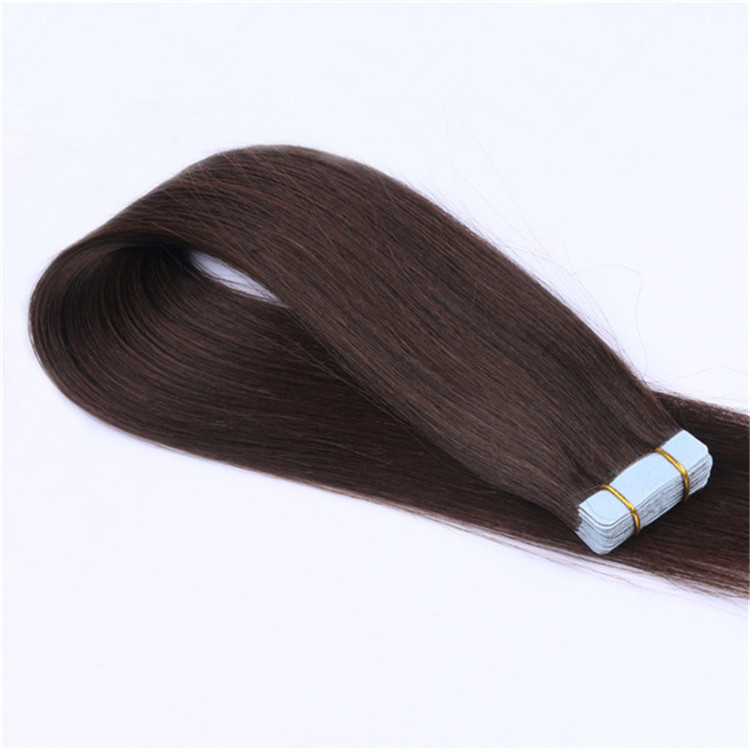 wholesale double drawn human hair tape in hair extensions QM148