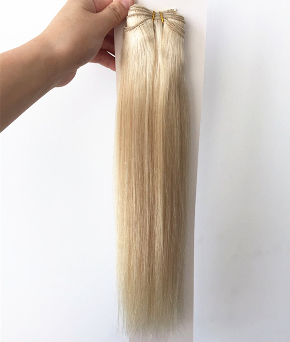 Hand tied double drawn raw unprocessed indian hair wholesale QM199