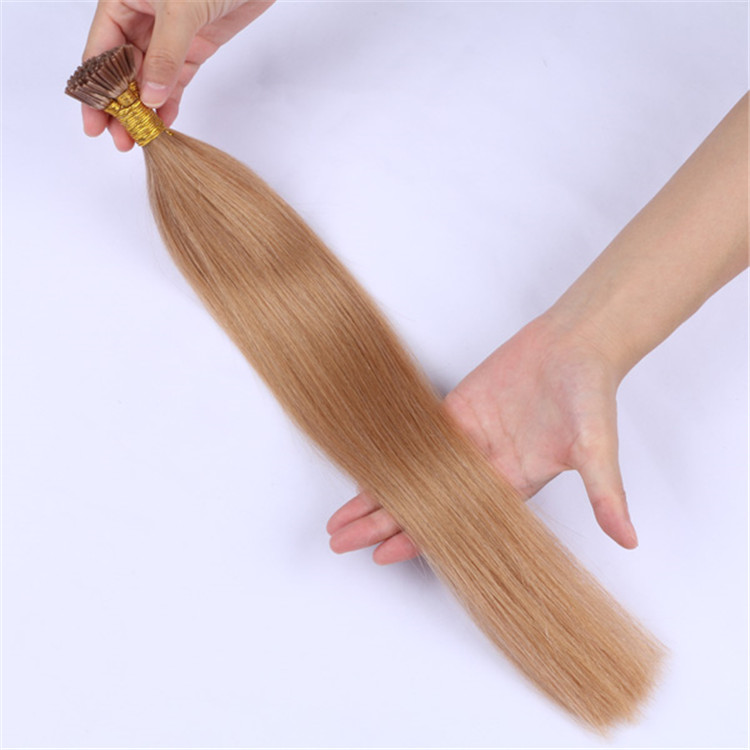 china wholesale i tip human hair extension factory QM046