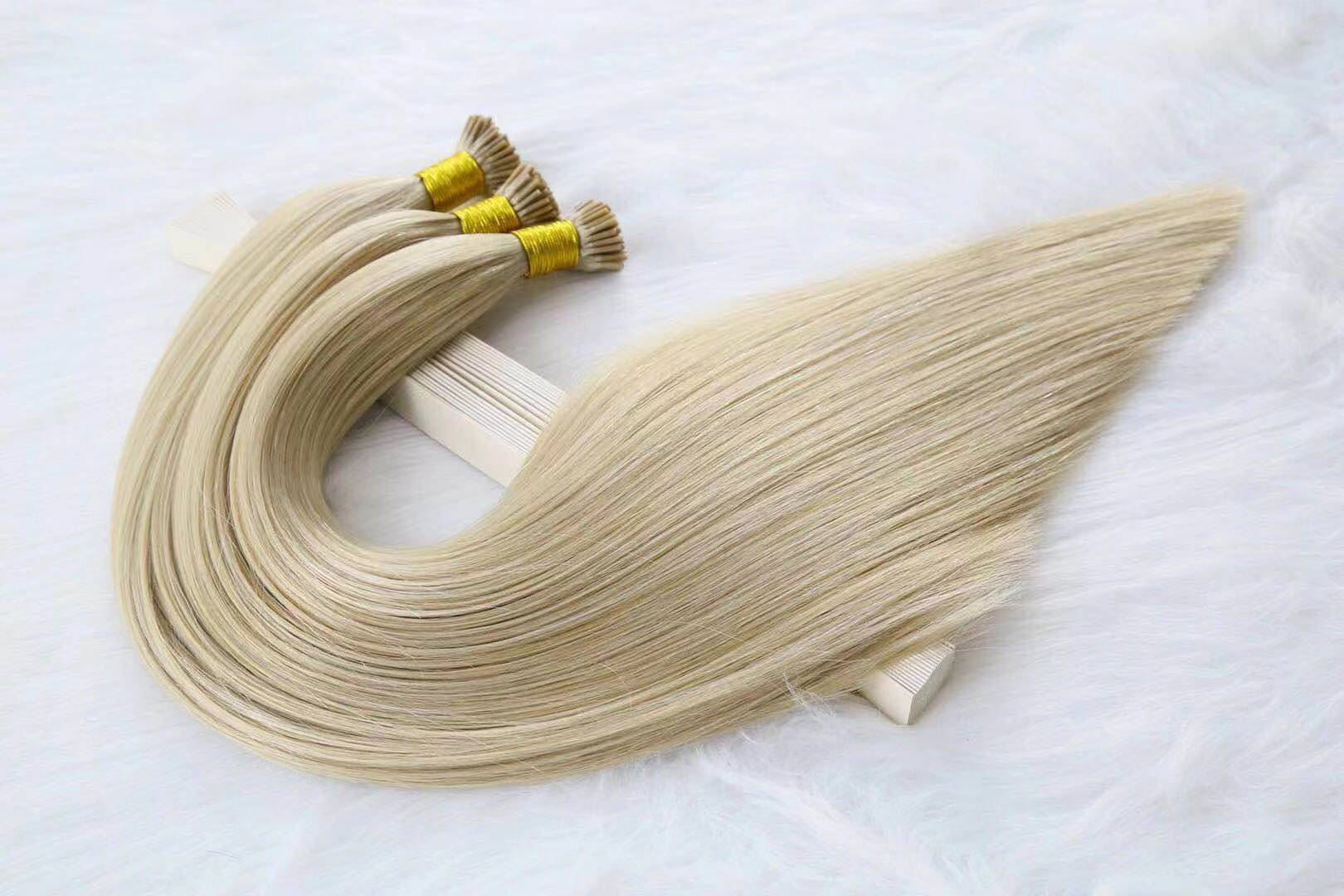 Wholesale top quality keratin i-tip hair extensions made in china QM255