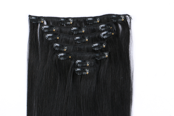 Remy hair extensions clip in extensions JF006