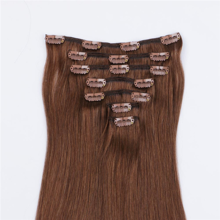 brown clips in hair human extension suppliers QM171